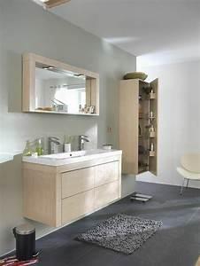 Meuble Salle De Bain Bois Gris : id e d coration salle de bain salle de bain sol en ~ Edinachiropracticcenter.com Idées de Décoration