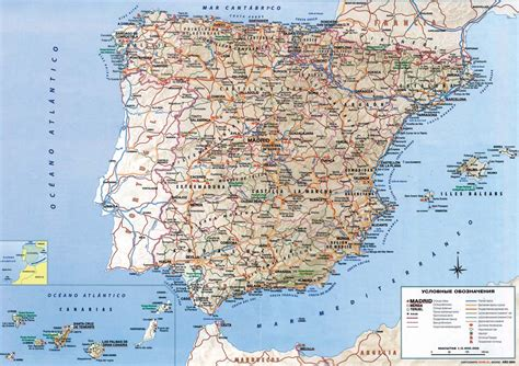maps  spain detailed map  spain  english tourist