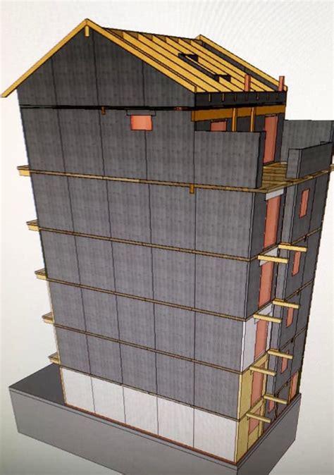 progetto casa torino il palazzo di legno di 7 piani a torino il progetto
