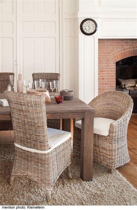 chaise de salle a manger en rotin salle à manger en rotin kooboo gris chaise amélie kok
