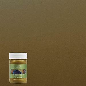 modern masters 6 oz green gold metallic interior exterior With home depot metallic furniture paint