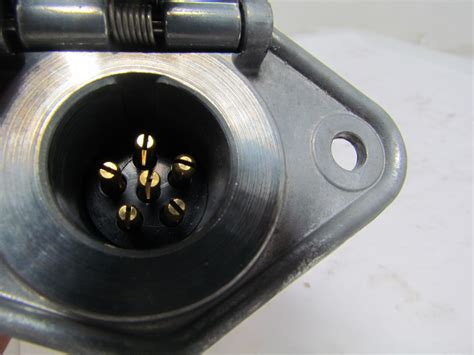 tekonsha 62 s 6 way 6 trailer light wiring plug connector metal car end ebay
