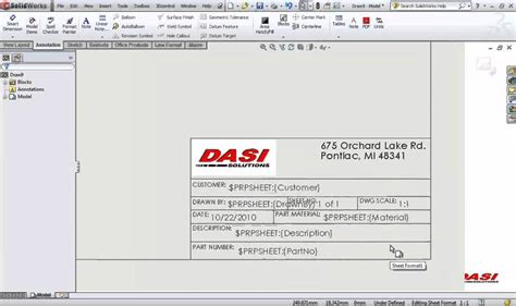 solidworks drawing template solidworks title blocks in 10 minutes 123vid