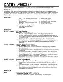 resume template for customer service associates resumes for college help desk resume sle my perfect resume