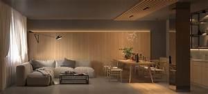 Warm, Interior, Design, With, A, Soft, Lighting, Scheme