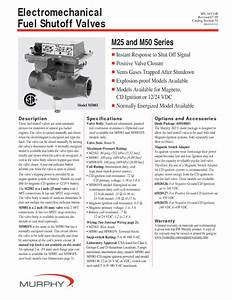Electromechanical Fuel Shutoff Valves M25 Manuals