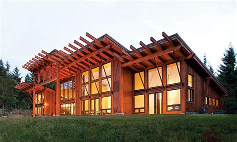 mountain modern  contemporary timber home