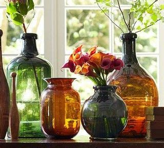 recycled glass vase large green traditional vases