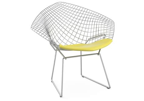 chaise bertoia blanche bertoia chair with cushion knoll milia shop