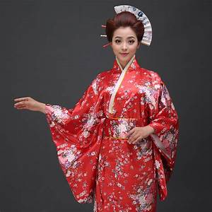 Popular Red Japanese Kimono-Buy Cheap Red Japanese Kimono ...