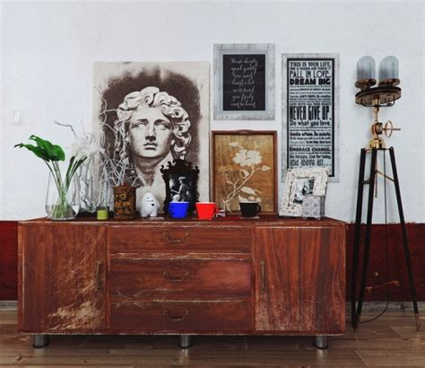 Colorful And Funky Interiors Visualized by Vintage Chest Of Drawers 600x520 Jpg