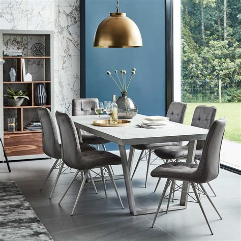 dining table with grey chairs halmstad dining table and 6 hix chairs grey dining sets
