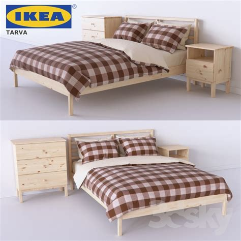 tarva bed ikea 3d models bed set of bedroom from tarva series tarva ikea