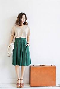 25+ best ideas about Green skirt outfits on Pinterest | Long skirt and top Full skirts 2014 and ...