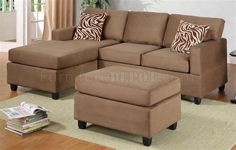 microfiber sectional sofas f7662 poundex saddle microfiber small sectional sofa w ottoman