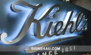brushed stainless steel backlit signs filled with epoxy With backlit metal letters