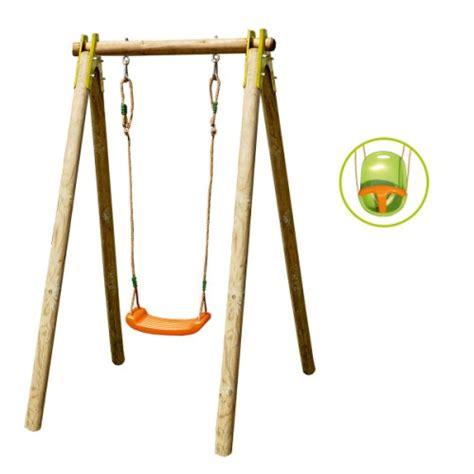 siege balancoire bois portique évolutif 1 personne avec siège bébé inclus pour