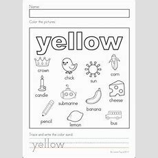 Yellow Colors 231x300 Learning Colors Worksheets For Preschoolers  Colors Preschool