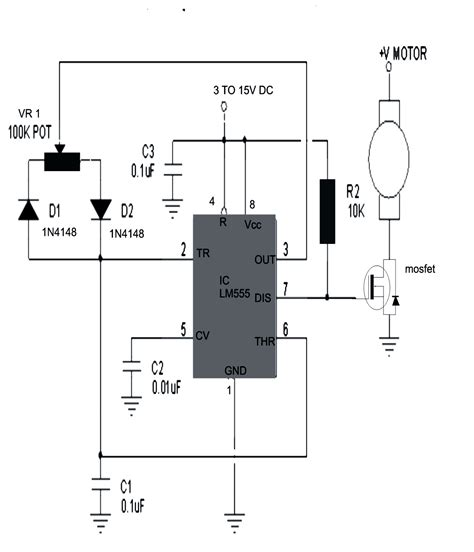 Simple Motor Speed Controller Circuits With High
