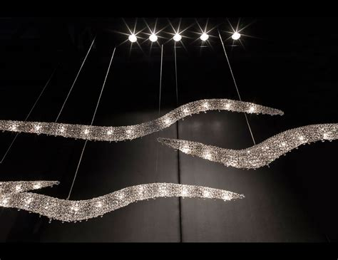 nella vetrina manooi vague  luxury white crystal chandelier