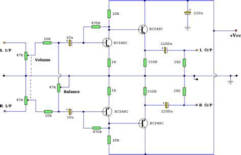 Headphone Amplifier Using Discrete Components Circuit Diagram