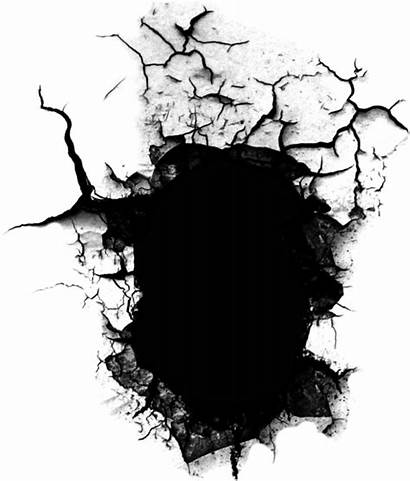 Hole Transparent Crack Cracked Clipart Picsart Bullet