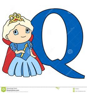 Alphabet Letter Q Queen