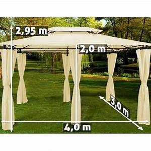 Tonnelle 4 X 3 : tente beige topas pavillon tonnelle 3 4 m tres achat ~ Edinachiropracticcenter.com Idées de Décoration