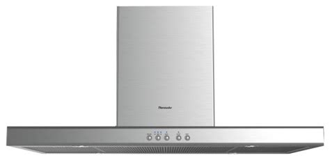 thermador 48 quot professional low profile island chimney stainless hpin48hs range hoods