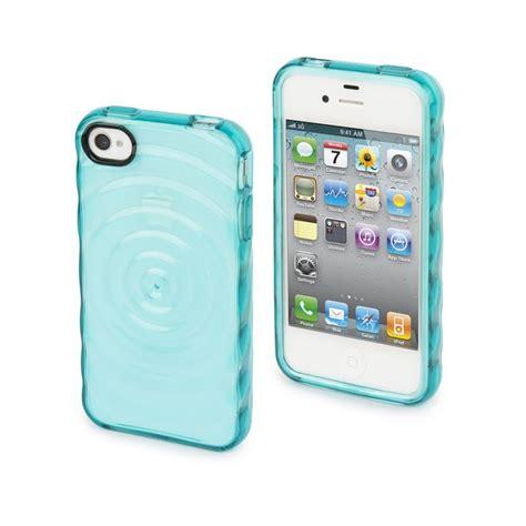 muvit housse silicone bleu turquoise effet goutte d eau pour iphone 4 et 4s coque silicone
