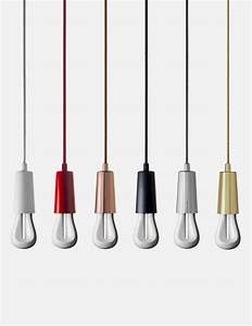 Plumen drop cap pendant set red uk