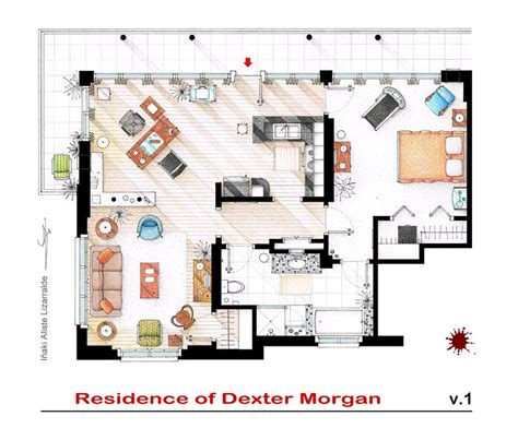 artist sketches the floor plans of popular tv homes design galleries paste
