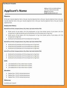 9 blank resume template resume pdf With blank resume template pdf
