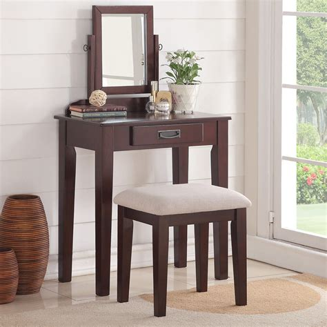 Makeup Vanity Table With Mirror And Bench - bedroom small vanity makeup table mirror bench storage
