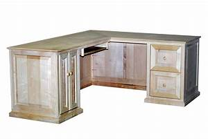Handmade Maple L-Shaped Desk by Durham Bookcases