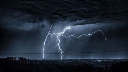 Lightning Dark Clouds Night Storm Wallpapers Background