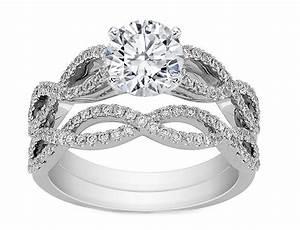 Engagement Ring Infinity Bridal Set Engagement Ring