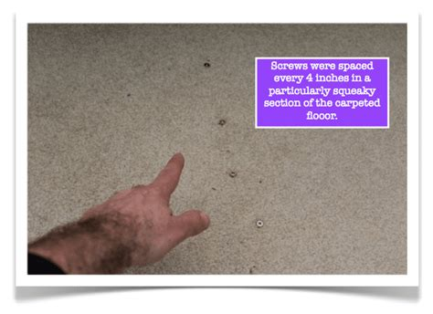 Fix Squeaky Floor Carpet by Fix Squeaky Floors In 4 Easy Steps With The Squeeeeek No