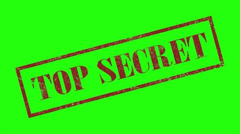top secret rubber stamp  green screen animation