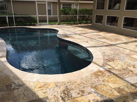 pool interior decopavers ta bays custom brick paver