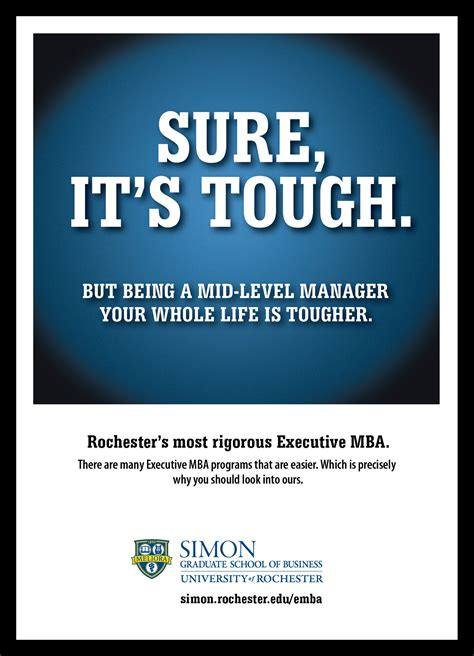business advertising ad antithesis simon print graduate ads emba campaign