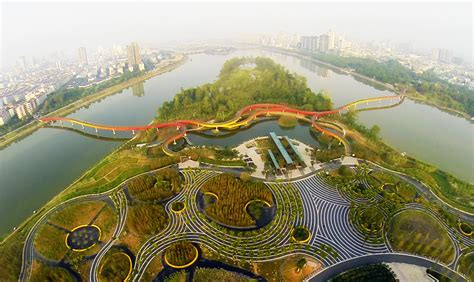 Yanweizhou Park In Jinhua City By