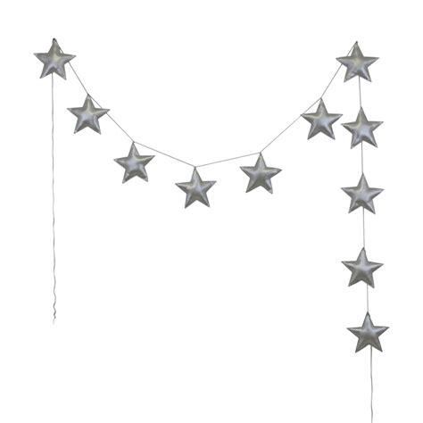 chambre noir et gris guirlande étoiles irisées argent numéro 74 pour chambre enfant les enfants du design