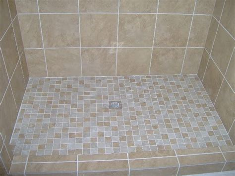 Tiling A Bathroom Floor by Tiled Shower Floors Pictures With 2 Quot X2 Quot Porcelain Tile
