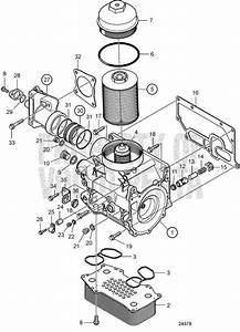 Volvo Penta Exploded View    Schematic Oil Cooler And Oil