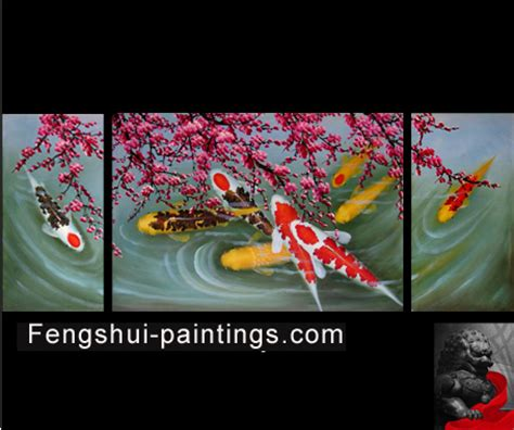 Abstract Art Chinese Plum Blossom Feng Shui Oil Painting