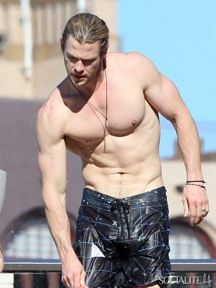 charliehunnam swimsuit hi chris hemsworth man candy pinterest chris