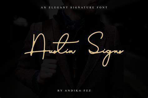 austin signs  elegant signature font