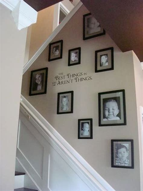 staircase gallery  vinyl lettering homemydesign