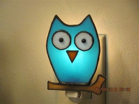 cute stained glass owl nightlight from etsy i love owls
